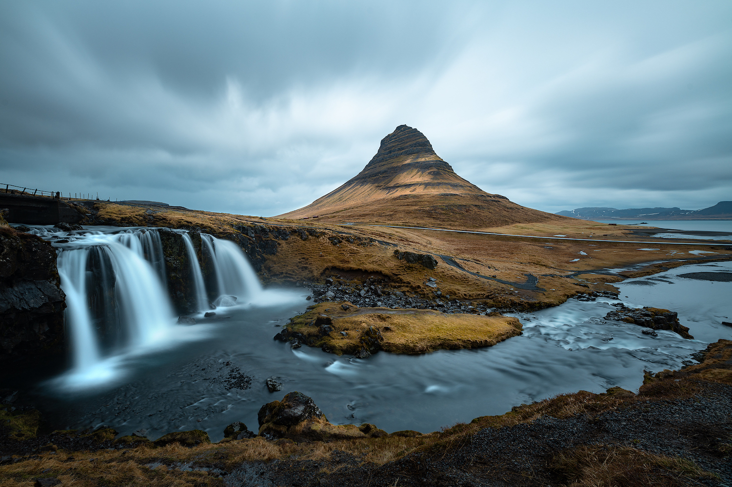 "This is an image of the photographic print entitled the ""The Triptych of Kirkjufell"" by Ben Orloff."