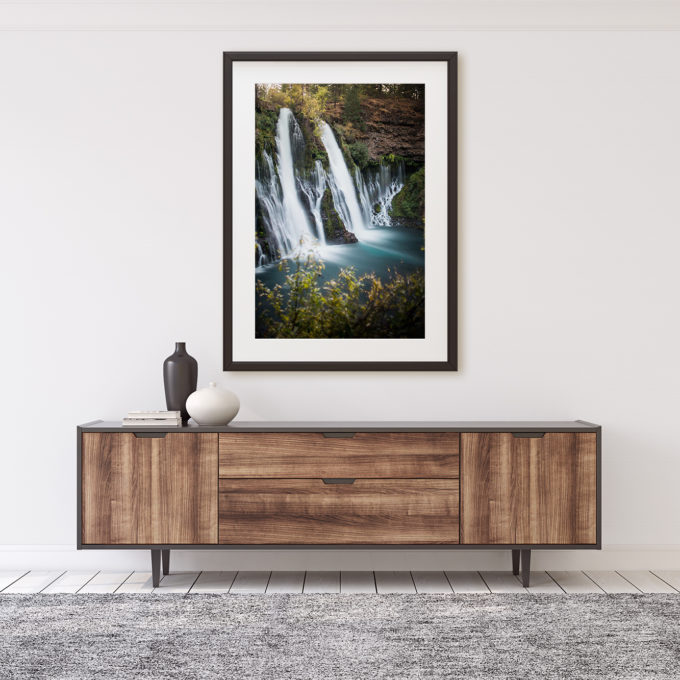 "This is a mockup of Ben Orloff's ""The Loom"" photography print set in a home's interior."