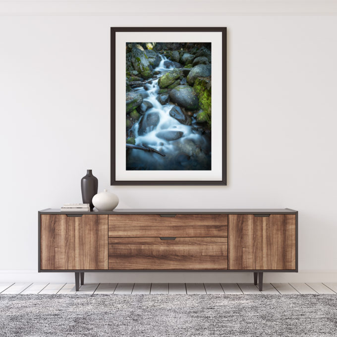"Mockup of the photographic print ""Pondering Place"" by Ben Orloff"
